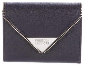 Rebecca Minkoff Leather Card Holder - BLUE - STYLE