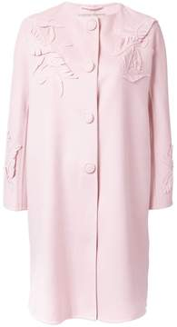 Ermanno Scervino leaves motif mid coat