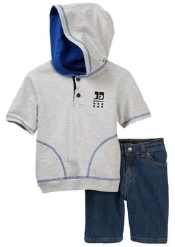 Joe's Jeans 2-Piece Short Sleeve Hoodie Set (Toddler Boys)