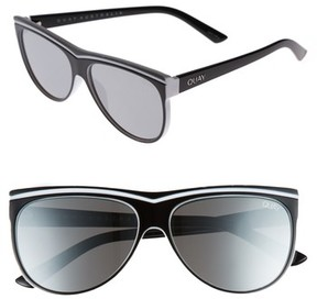 Quay Women's Hollywood Nights 62Mm Sunglasses - Black/ Silver