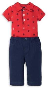 Little Me Baby Boy's Two-Piece Cotton Nautical Romper and Pants Set