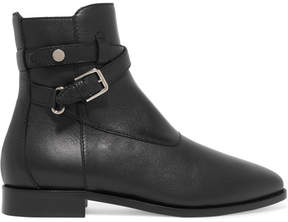 Jimmy Choo Mitchel Leather Ankle Boots - Black