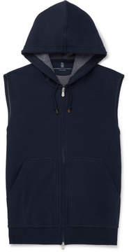 Brunello Cucinelli Cotton-Blend Jersey Zip-Up Hoodie