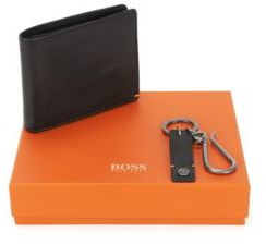 Hugo Boss Leather Billfold Wallet With Coin Pouch GB017FW 4CC Coin One Size Black