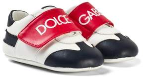 Dolce & Gabbana White, Red and Blue Branded Velcro Crib Shoes