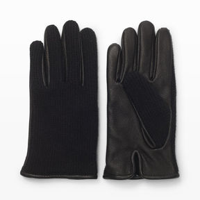 Club Monaco Half-Knit Leather Glove