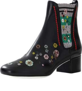 FENDI Marie Antionette Embroidered Bootie