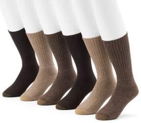 Gold Toe GOLDTOE Men's GOLDTOE 6-Pack Harrington Crew Socks