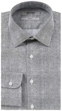 Murano Slim-Fit Spread-Collar Dotted Dress Shirt