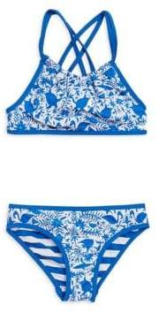 Vineyard Vines Toddler's, Little Girl's& Girl's Bahama Reversible Two-Piece Bikini Set