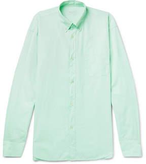 Dries Van Noten Oversized Button-Down Collar Garment-Dyed Cotton Shirt