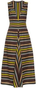 Emilia Wickstead Milly striped cloqué midi dress