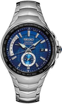 Seiko Men's Solar Coutura Radio Sync Stainless Steel Bracelet Watch 45mm