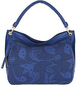 Plinio Visona PLINIO VISONA' As Is Italian Leather Laser Cut Hobo