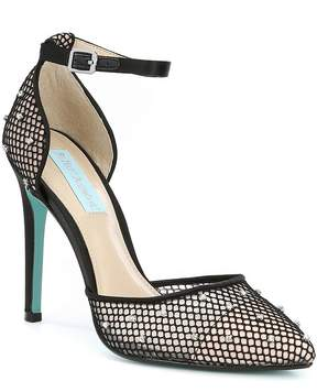 Betsey Johnson Blue by Falon Mesh and Satin Dress Pumps