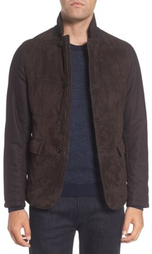 BOSS Men's T-Cobas Slim Fit Mixed Media Jacket