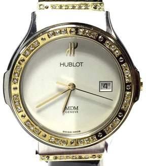 Hublot Depose 18K Yellow Gold & Stainless Steel Eggshell Dial 36mm Mens Watch