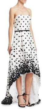Theia Sequin Polka Dot Gown