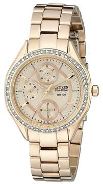 Citizen FD1063-57X Eco-Drive POV 2.0 Rose Gold Tone Swarovski Crystal Watch Watches