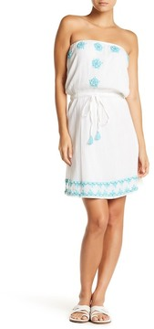 Letarte Strapless Embroidered Sun Dress