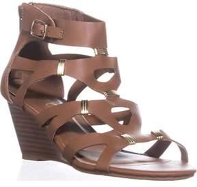 XOXO Sarabeth Gladiator Wedge Sandals, Tan.