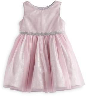 Youngland Baby Girl Pink Glitter Dress