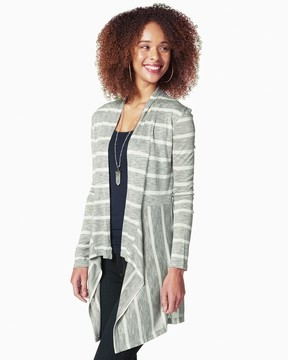 Charming charlie Two Striped Waterfall Cardigan