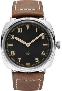 Panerai Radiomir Stainless Steel / Leather with Black Dial 47mm Mens Watch