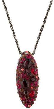 Alexis Bittar Lucite & Crystal Pendant Necklace