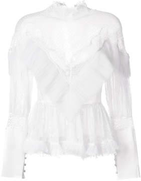Amen ruffled lace blouse