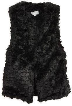 Tractr Girl's Faux Fur Vest