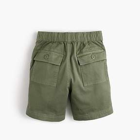 J.Crew Boys' stretch patch-pocket pull-on short in chino