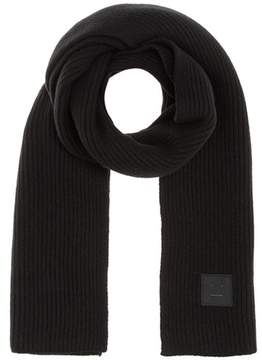 Acne Studios Bansy Face knitted wool scarf