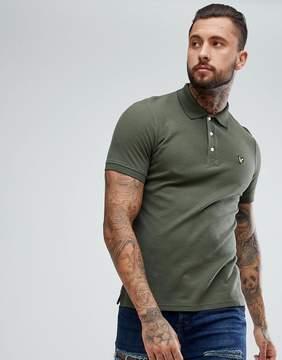 Lyle & Scott Honeycomb Jersey Polo T-Shirt Khaki