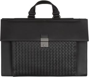 Bottega Veneta Intrecciato Panel Briefcase
