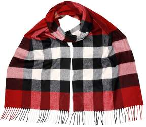Burberry Giant Exploded Check Cashmere Scarf - Parade Red Check