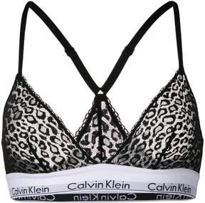Calvin Klein Underwear leopard mesh unlined bra