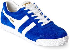 Gola Reflex Blue & White Harrier Suede Low Top Sneakers
