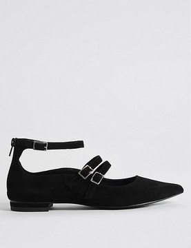 Marks and Spencer Suede Strap Pump Shoes