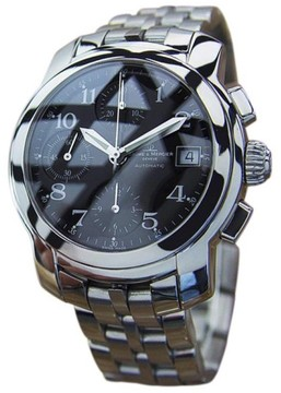 Baume & Mercier Capeland Chronograph Stainless Steel Mens Watch 2010