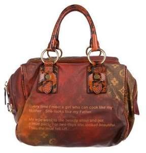 Louis Vuitton Karung-Trimmed Mancrazy Jokes Bag