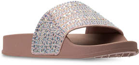Steve Madden Little Girls' Jdazzle Rhinestone Slide Sandals from Finish Line