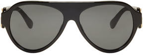 Versace Black Rock Icons Medusa Pilot Sunglasses