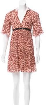 Giamba Printed Mini Dress