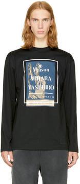 Miharayasuhiro Black Long Sleeve Logo T-Shirt