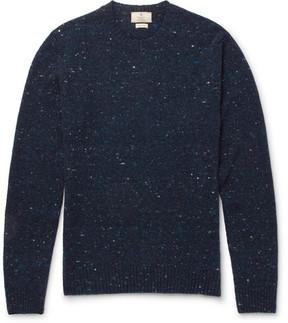 Hackett Alcantara Elbow-Patch Donegal Wool-Blend Sweater
