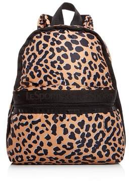Le Sport Sac Candace Leopard Print Backpack