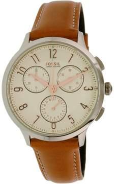 Fossil Women's CH3014 Abilene Leather Watch, 34mm