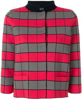 Emporio Armani cropped checkerboard jacket
