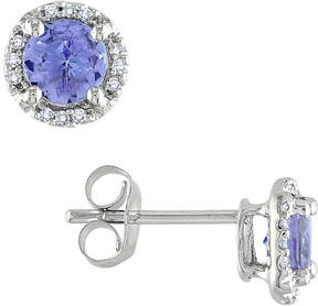 Asstd National Brand Tanzanite & Diamond-Accent Earrings 10K White Gold